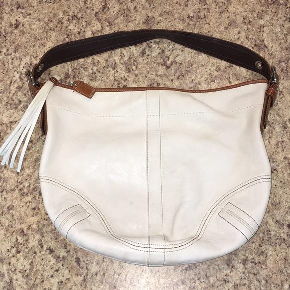Coach Handbags - COACH k0667-f08a03 white leather hobo bag purse 703b3201ac18e